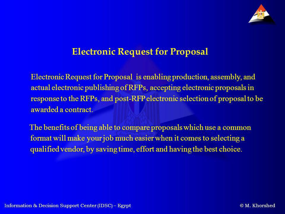 Electronic Request for Proposal
