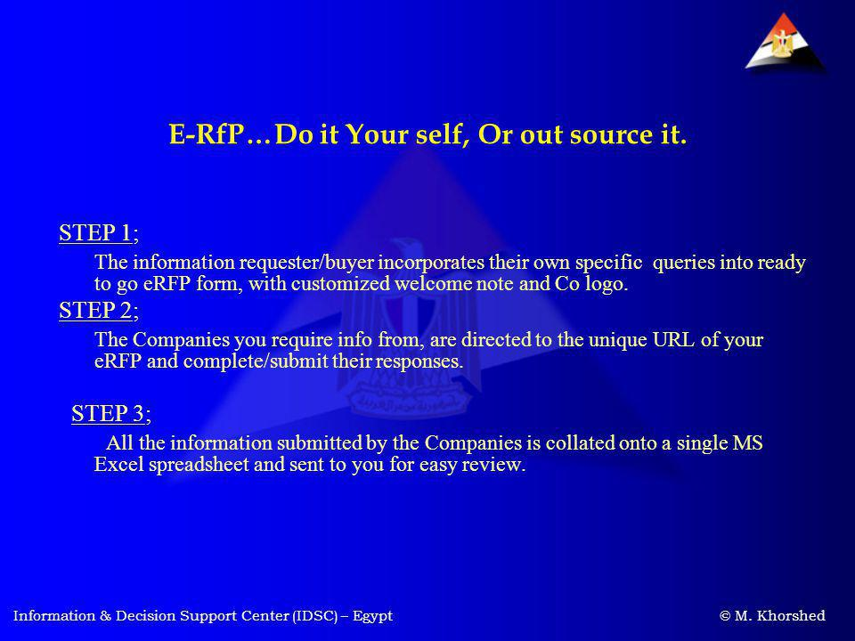 E-RfP…Do it Your self, Or out source it.