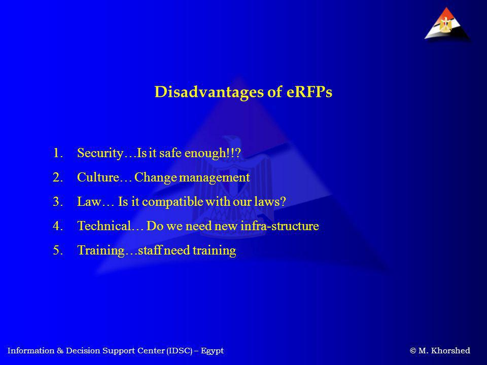 Disadvantages of eRFPs