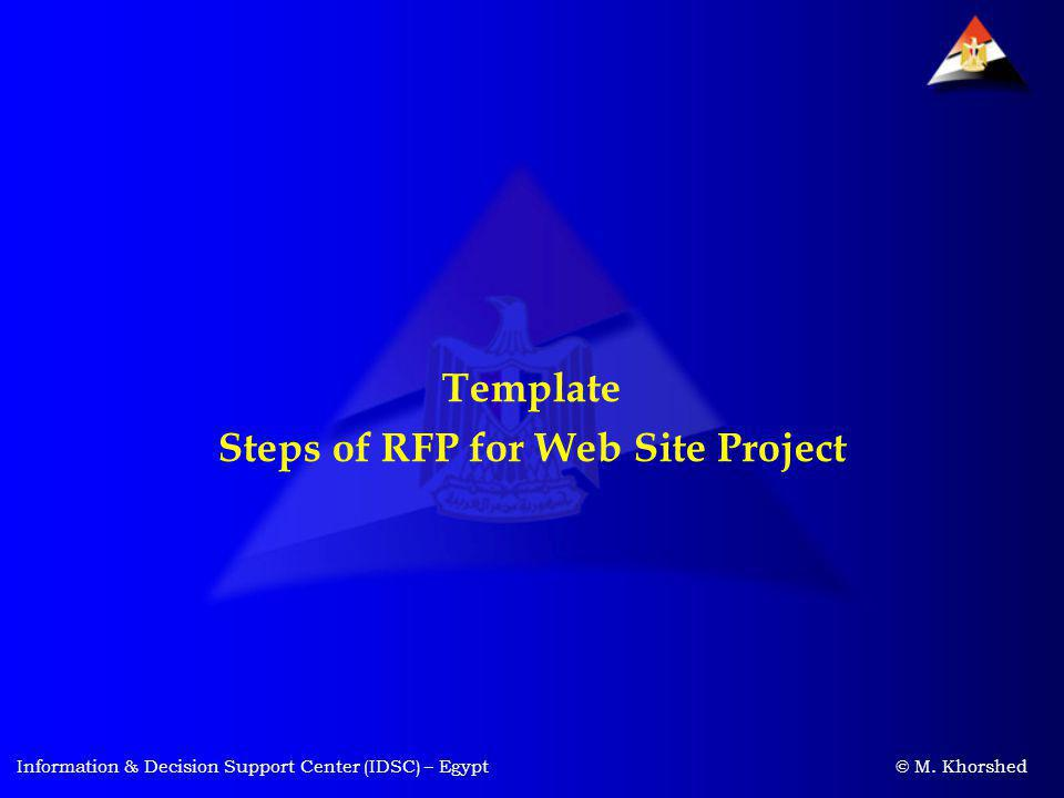 Steps of RFP for Web Site Project
