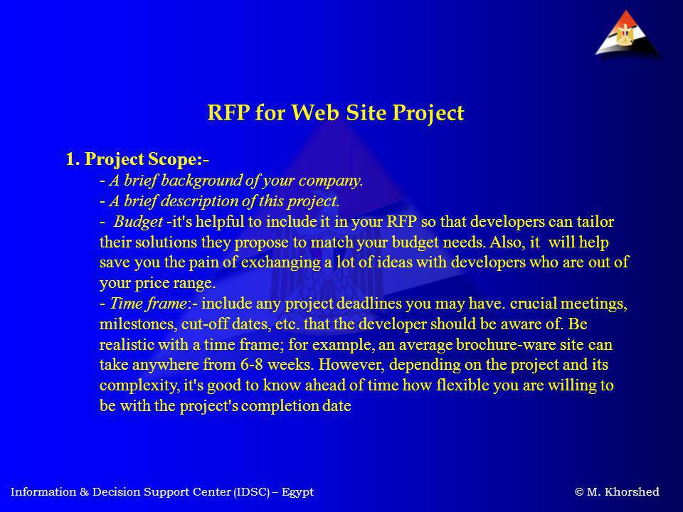 RFP for Web Site Project