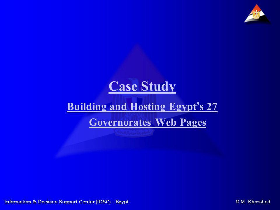 Building and Hosting Egypt's 27 Governorates Web Pages