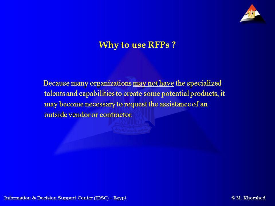 Why to use RFPs