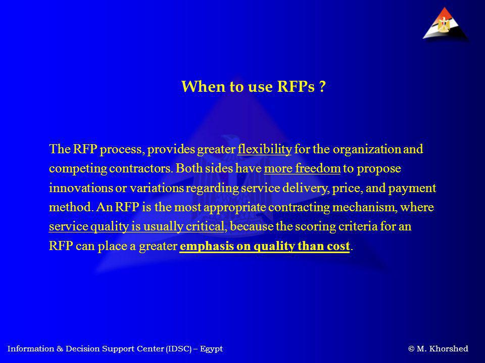 When to use RFPs