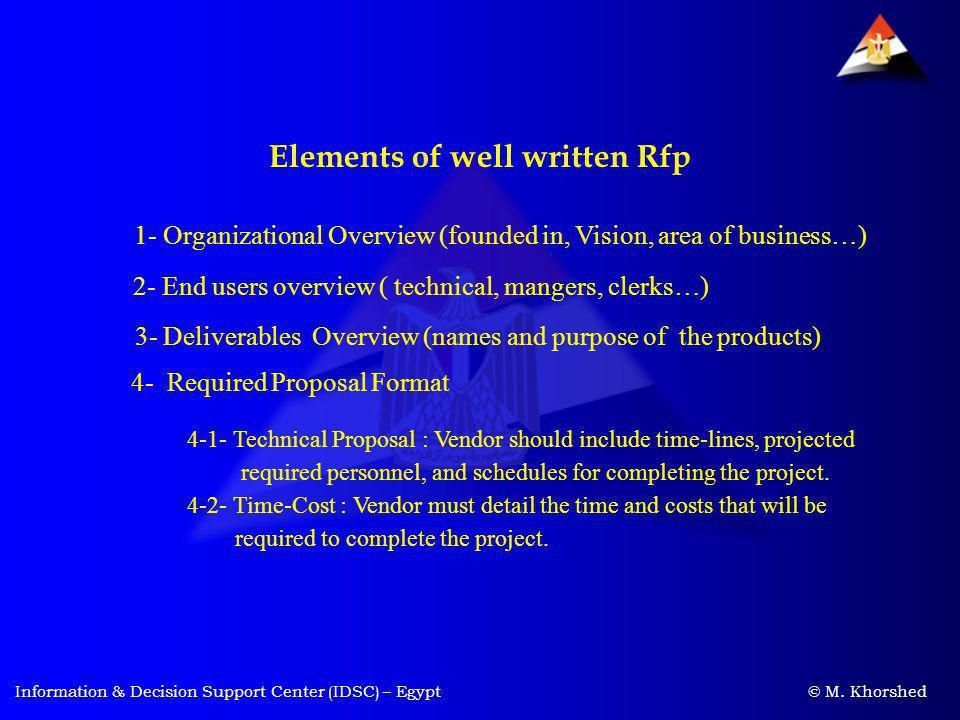 Elements of well written Rfp