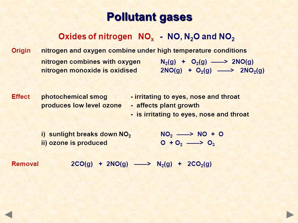 Oxides of nitrogen NOx - NO, N2O and NO2