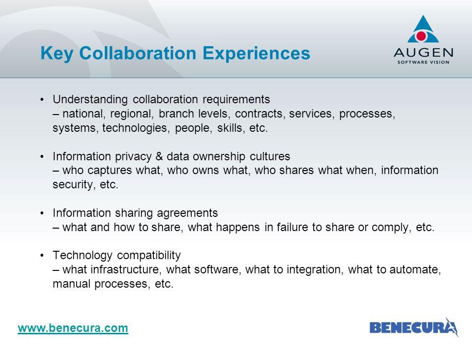 Key Collaboration Experiences (Cont.)
