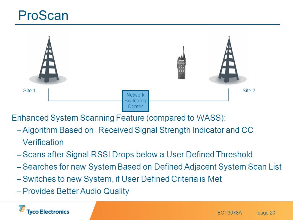 ProScan Enhanced System Scanning Feature (compared to WASS):