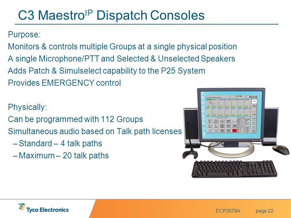 C3 MaestroIP Dispatch Consoles