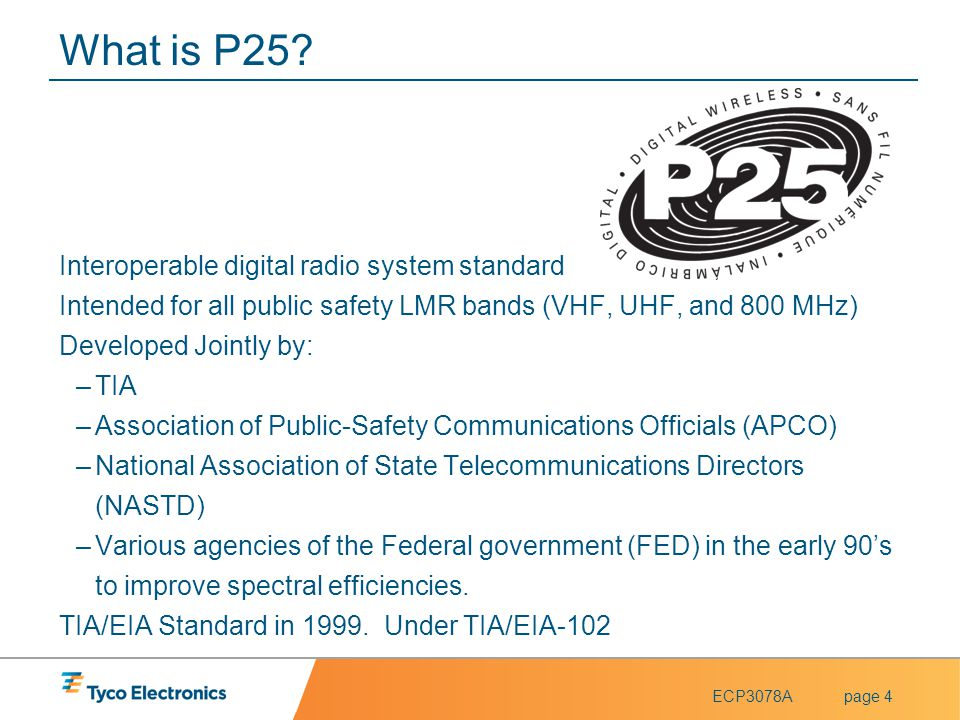 What is P25 Interoperable digital radio system standard