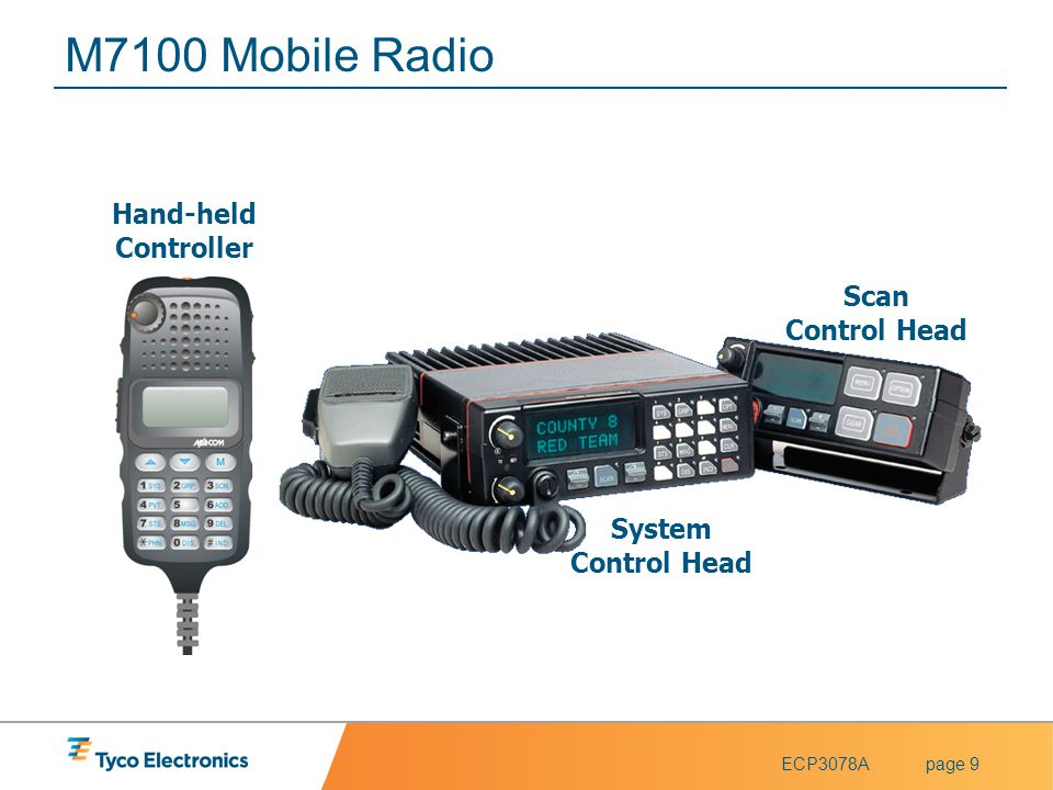 M7100 Mobile Radio Hand-held Controller Scan Control Head