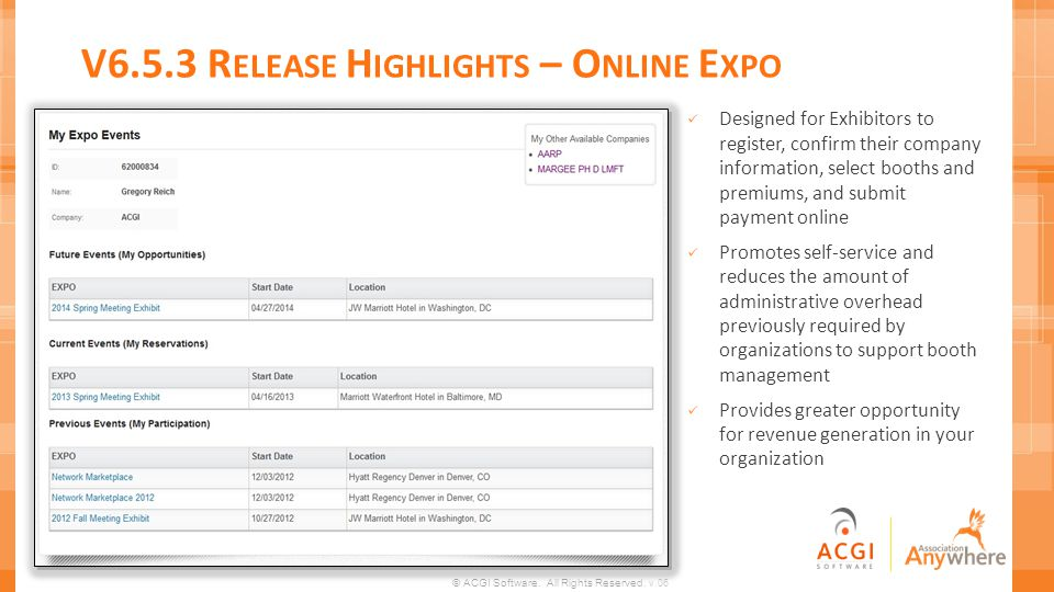 V6.5.3 Release Highlights – Online Expo