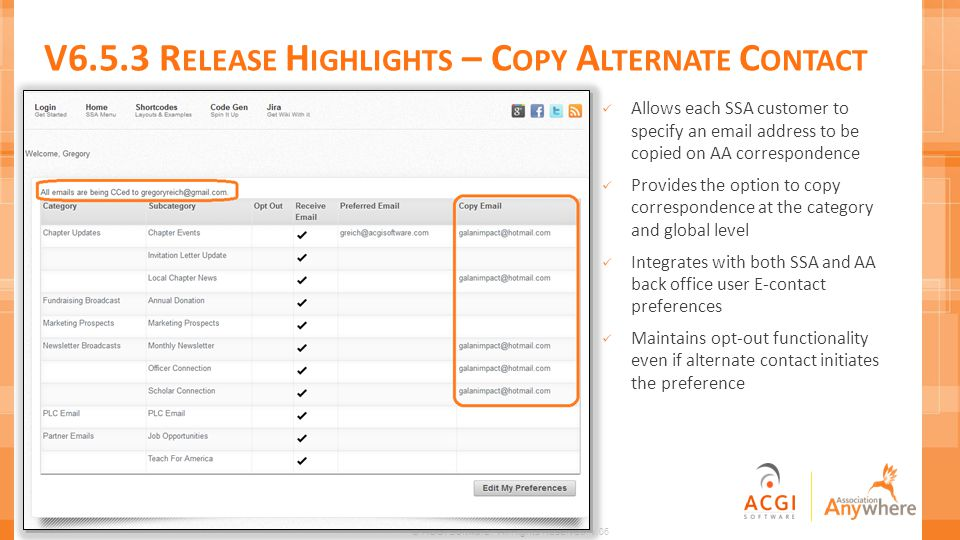 V6.5.3 Release Highlights – Copy Alternate Contact