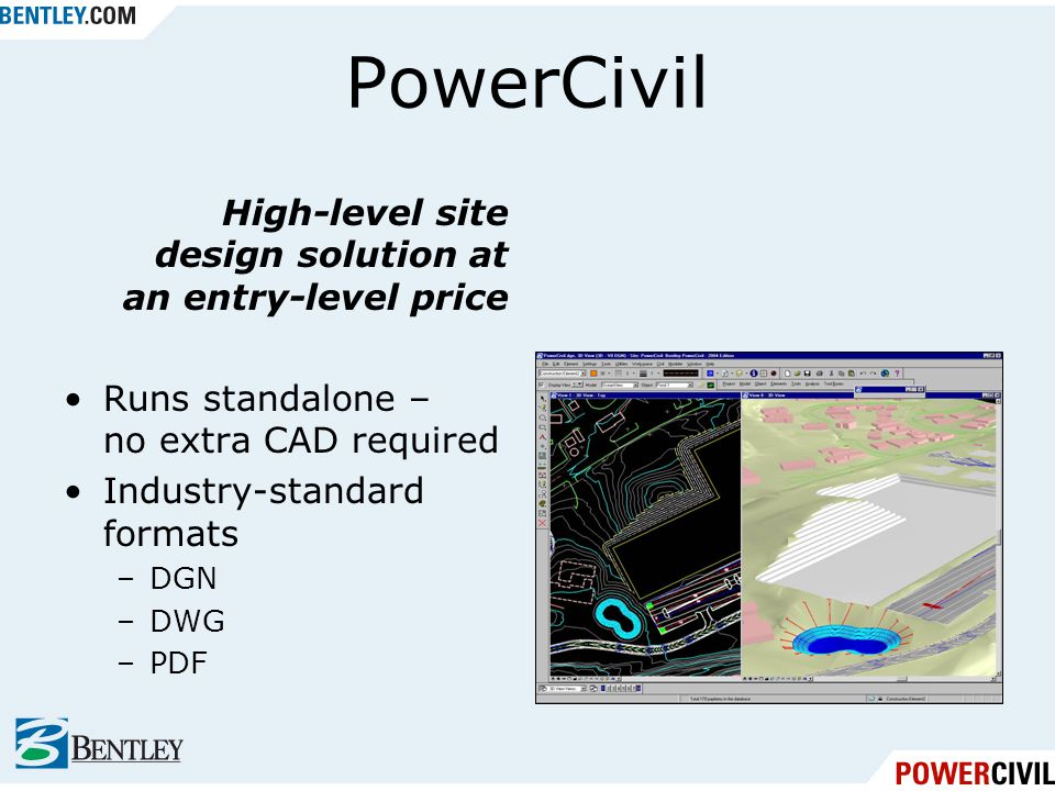 PowerCivil High-level site design solution at an entry-level price