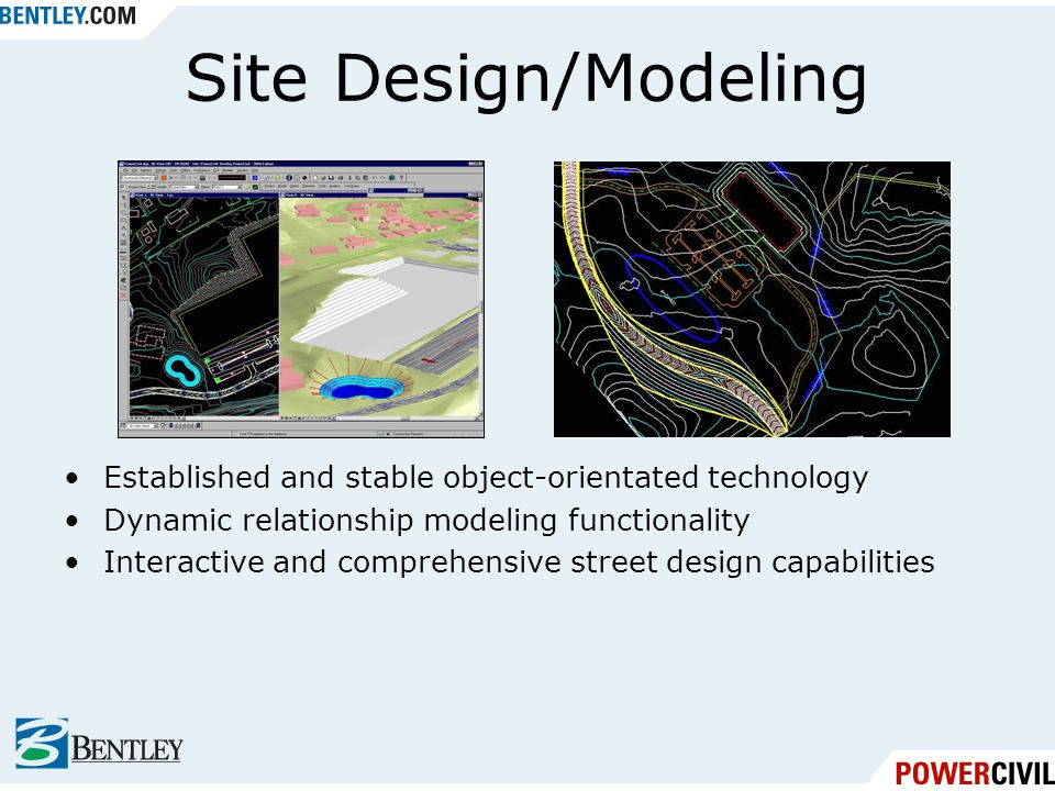 Site Design/Modeling Established and stable object-orientated technology. Dynamic relationship modeling functionality.