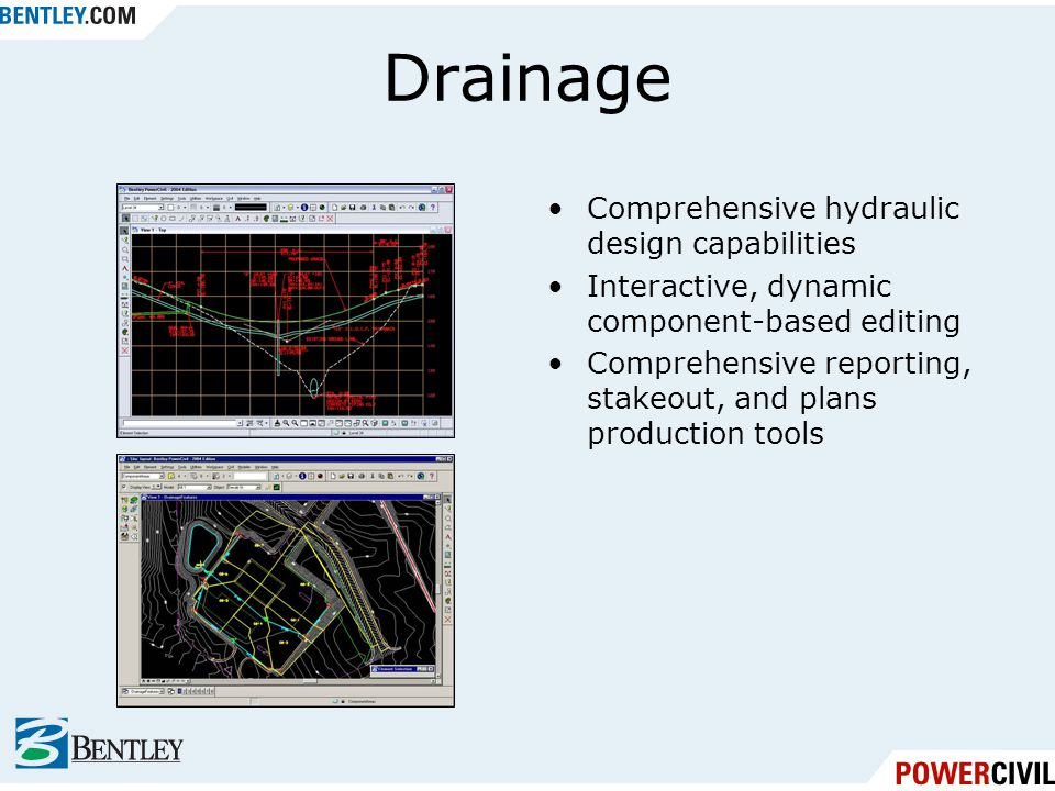 Drainage Comprehensive hydraulic design capabilities