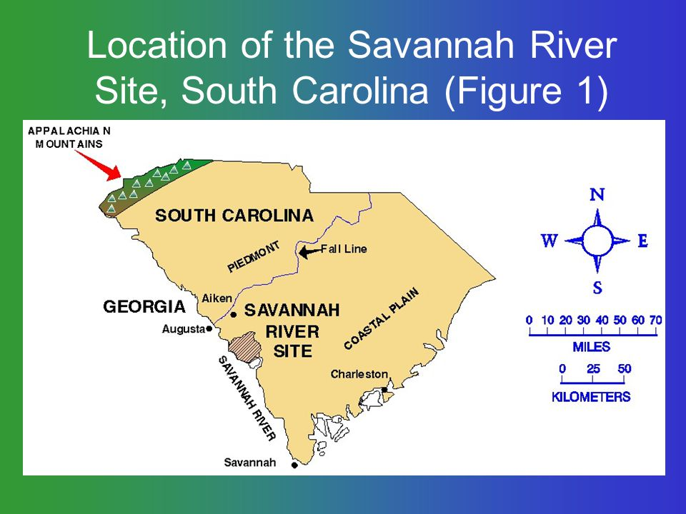 Location of the Savannah River Site, South Carolina (Figure 1)