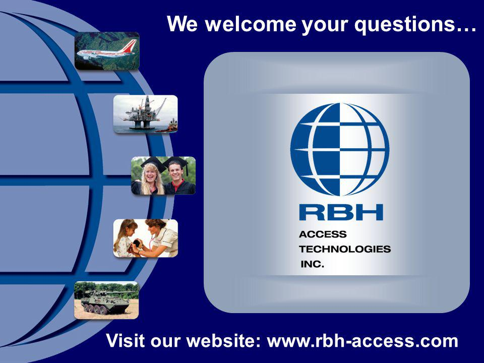 We welcome your questions…