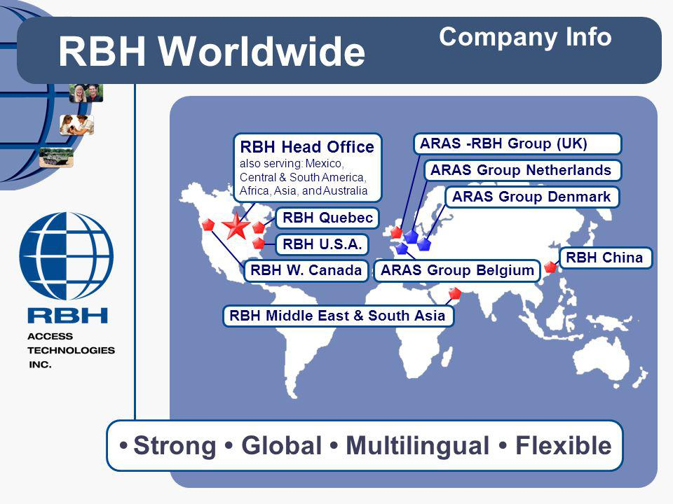 RBH Worldwide Company Info • Strong • Global • Multilingual • Flexible