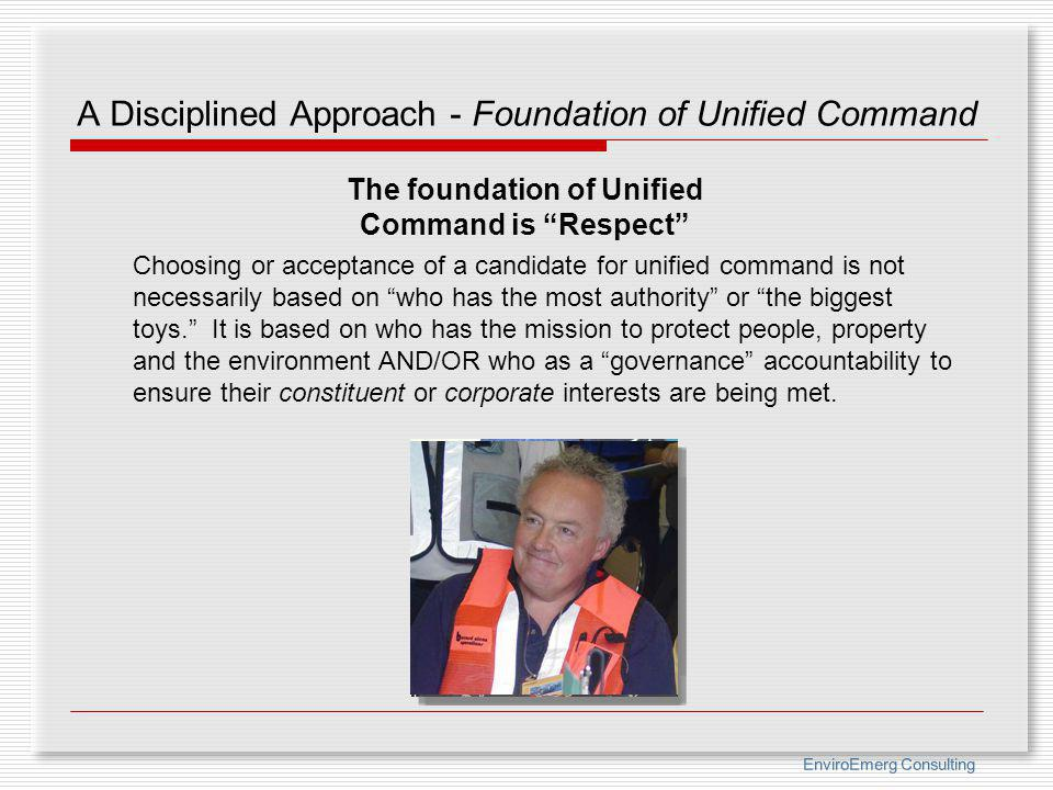 A Disciplined Approach - Foundation of Unified Command