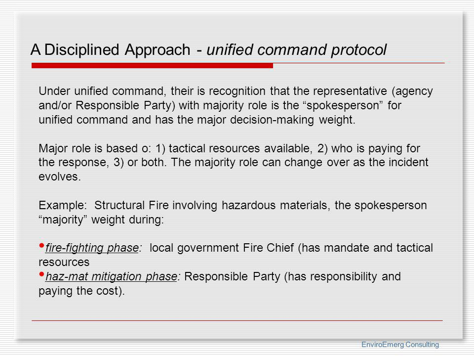 A Disciplined Approach - unified command protocol