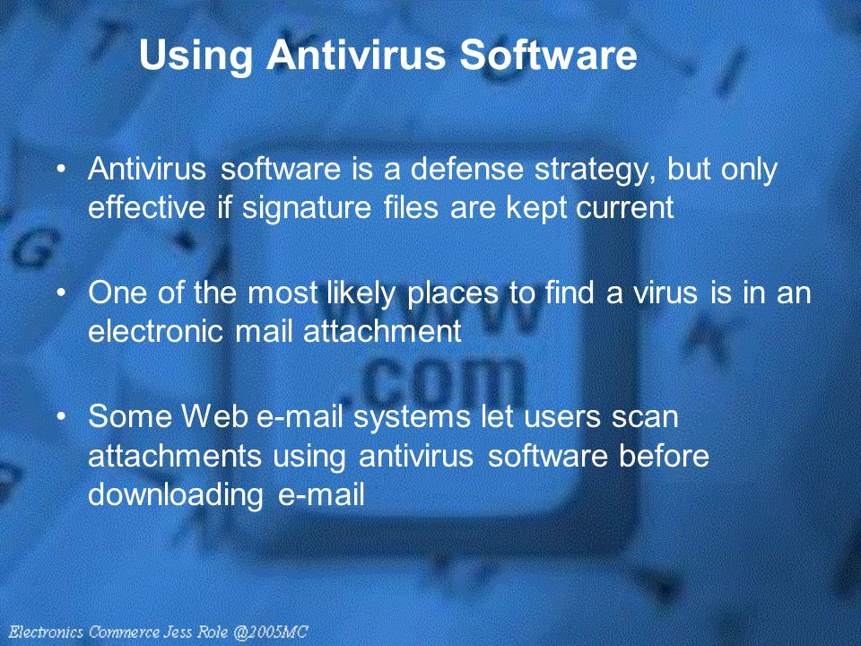 Using Antivirus Software