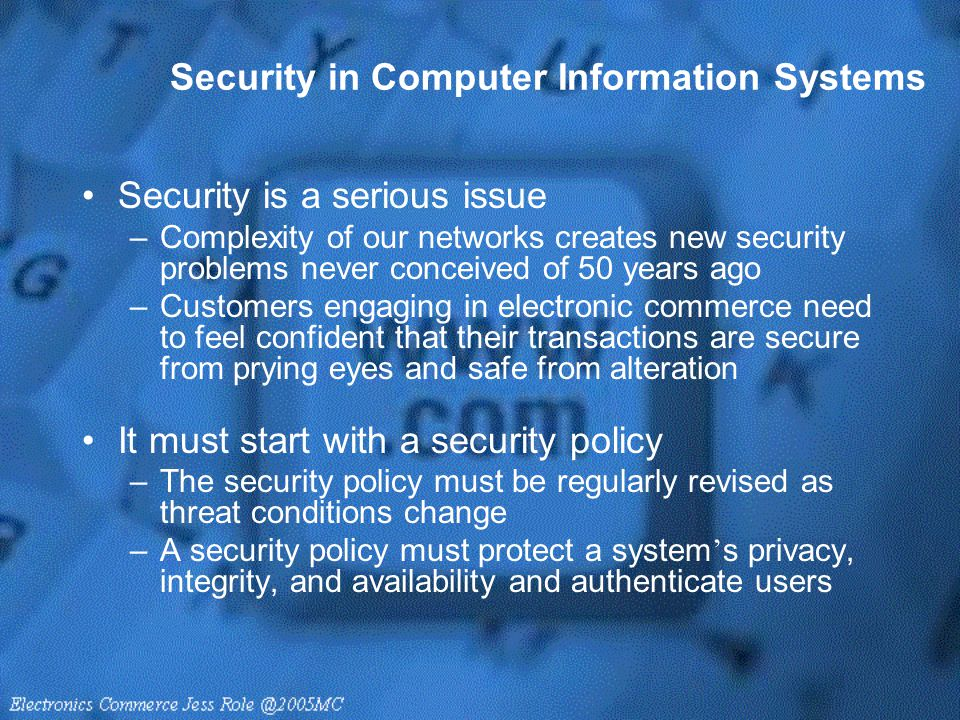 Security in Computer Information Systems