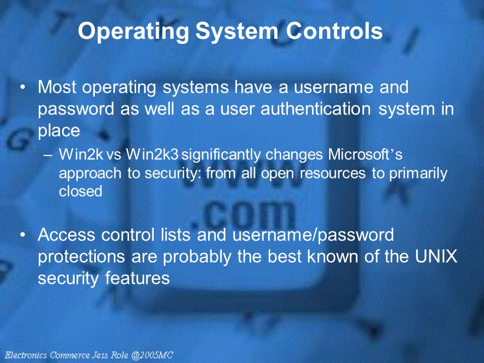 Operating System Controls