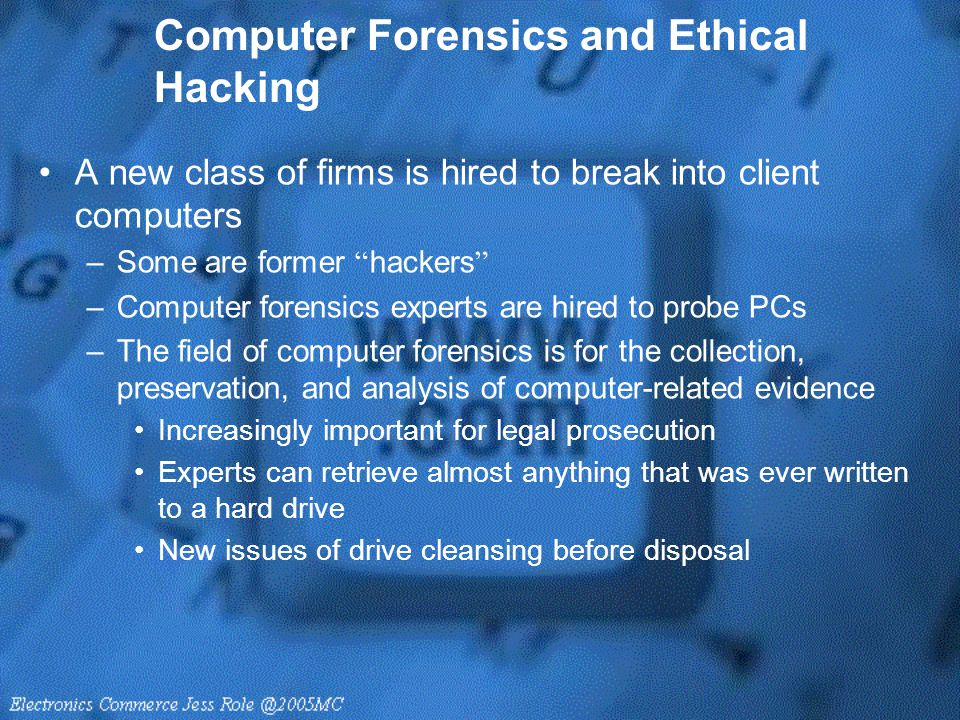 Computer Forensics and Ethical Hacking