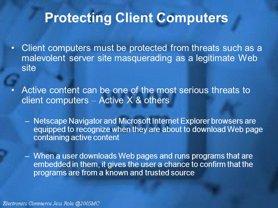 Protecting Client Computers