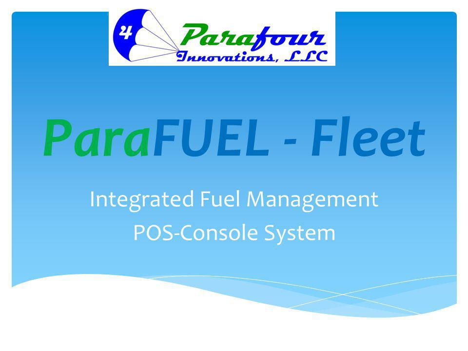Integrated Fuel Management POS-Console System