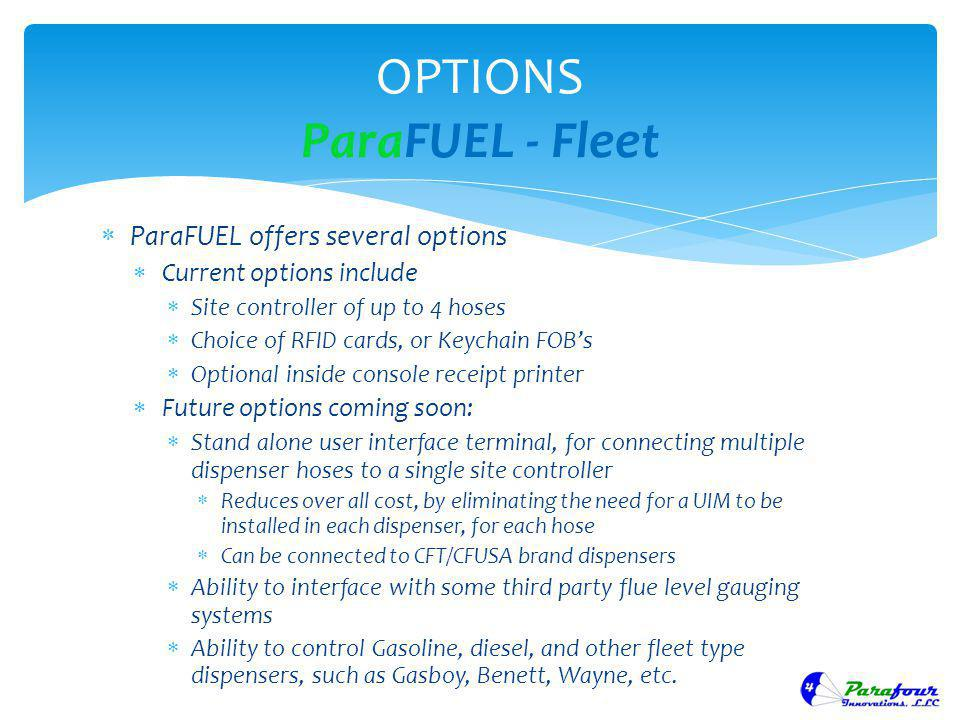 OPTIONS ParaFUEL - Fleet