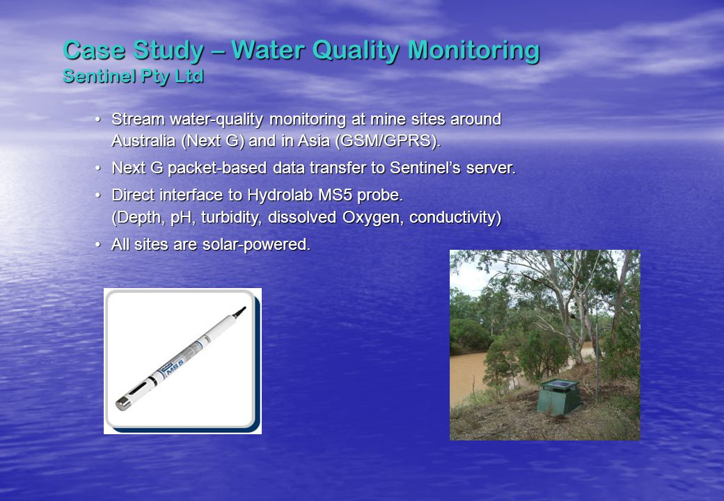 Case Study – Water Quality Monitoring Sentinel Pty Ltd