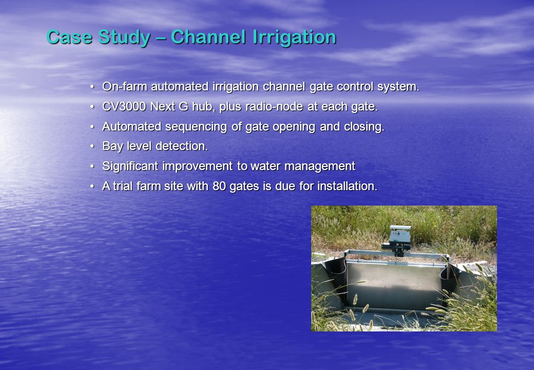 Case Study – Channel Irrigation