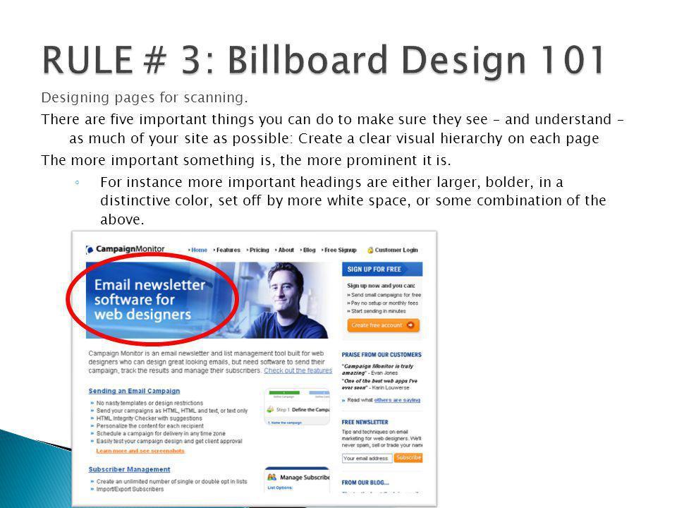 RULE # 3: Billboard Design 101