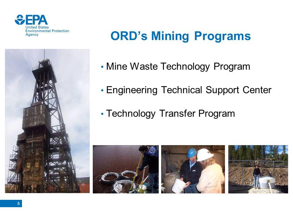 Mine Waste Technology Program