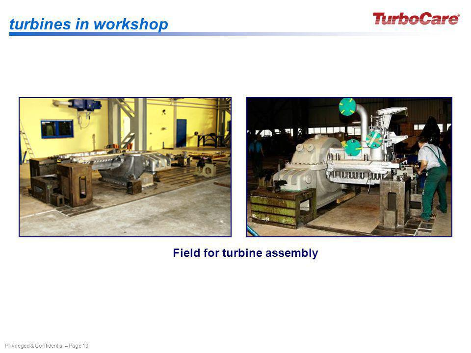 Field for turbine assembly