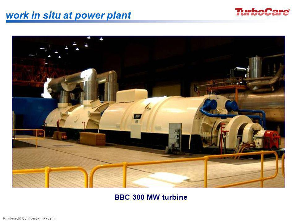 work in situ at power plant