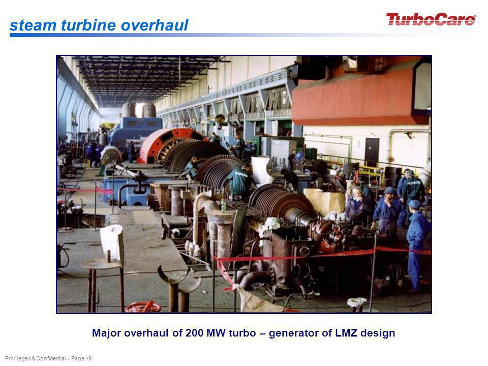 Major overhaul of 200 MW turbo – generator of LMZ design