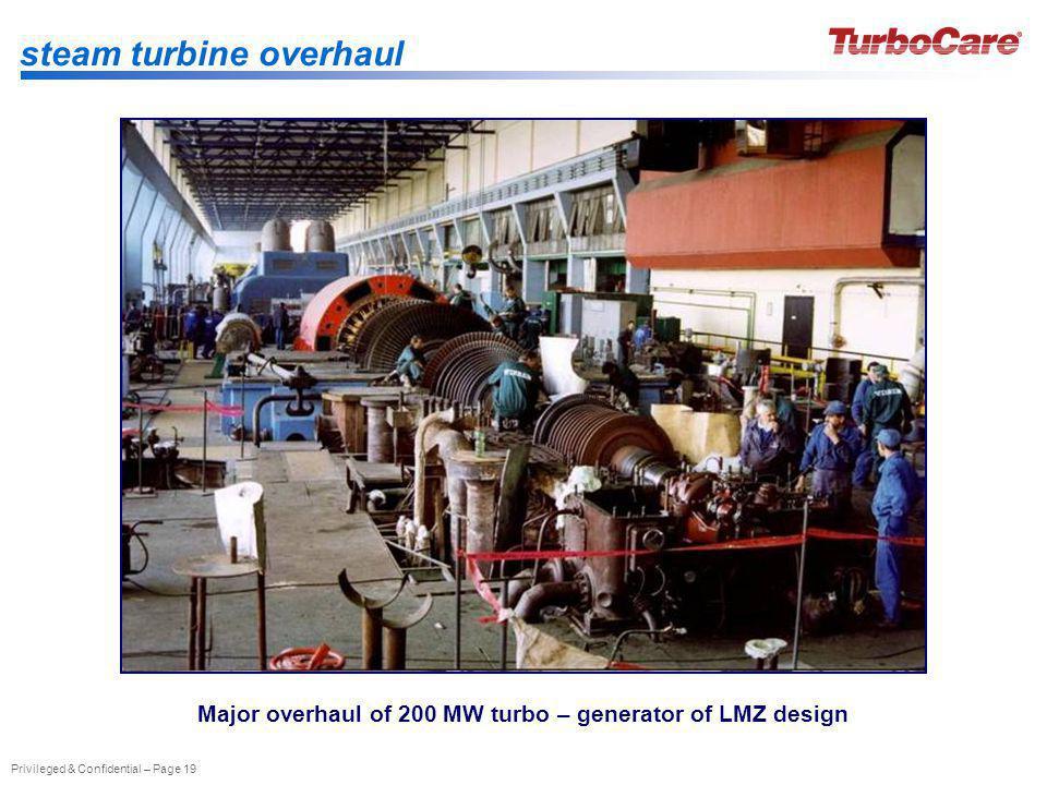 Major overhaul of 200 MW turbo – generator of LMZ design