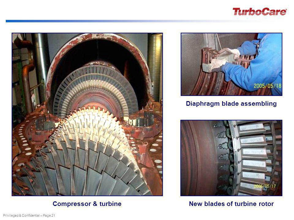Diaphragm blade assembling New blades of turbine rotor