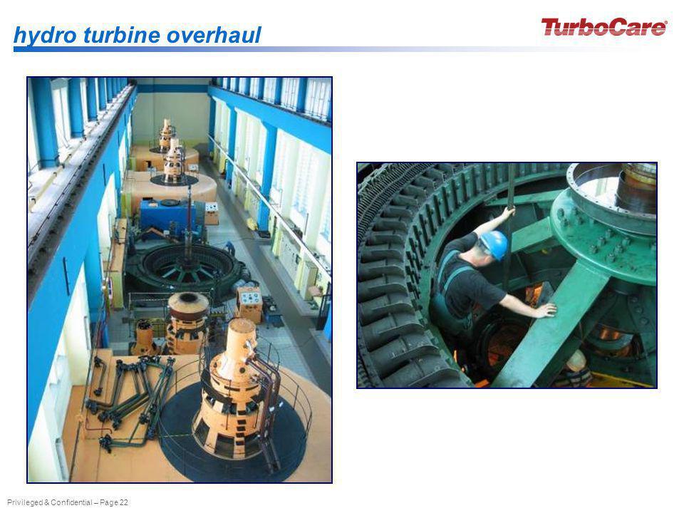 hydro turbine overhaul