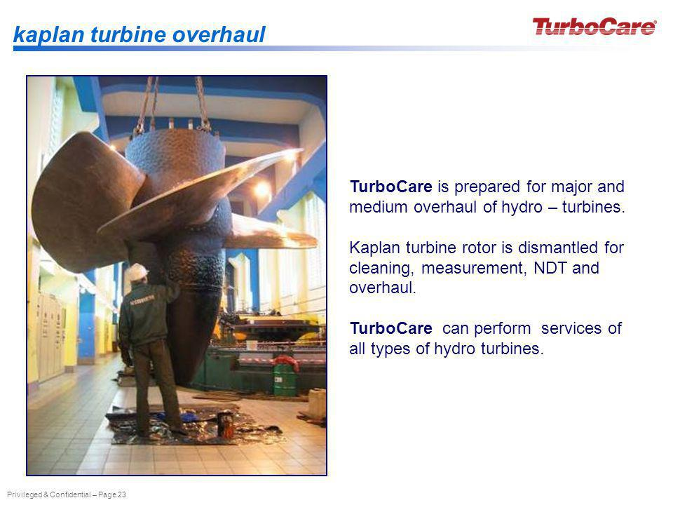 kaplan turbine overhaul