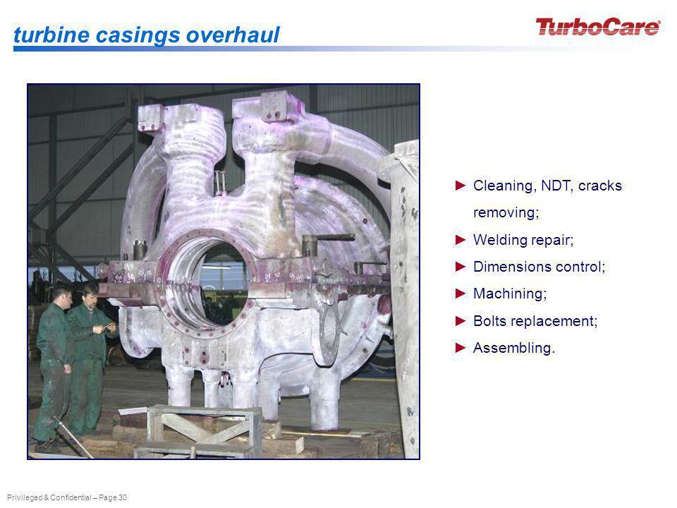 turbine casings overhaul
