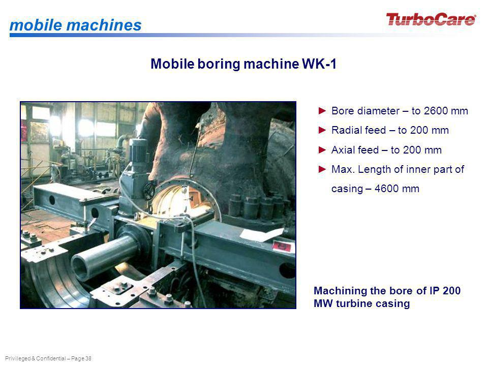 Mobile boring machine WK-1