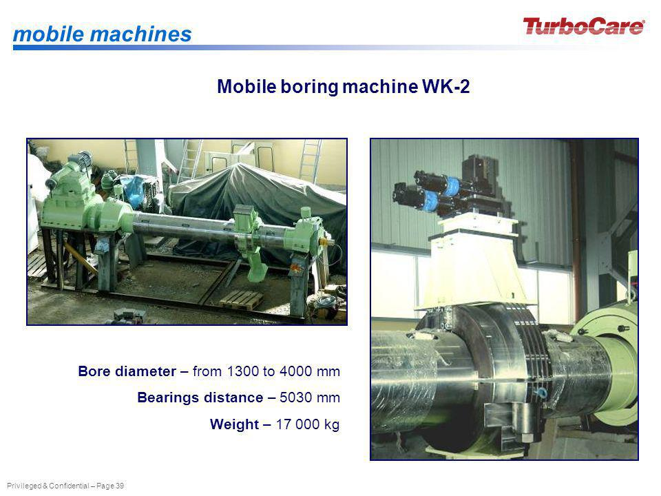 Mobile boring machine WK-2