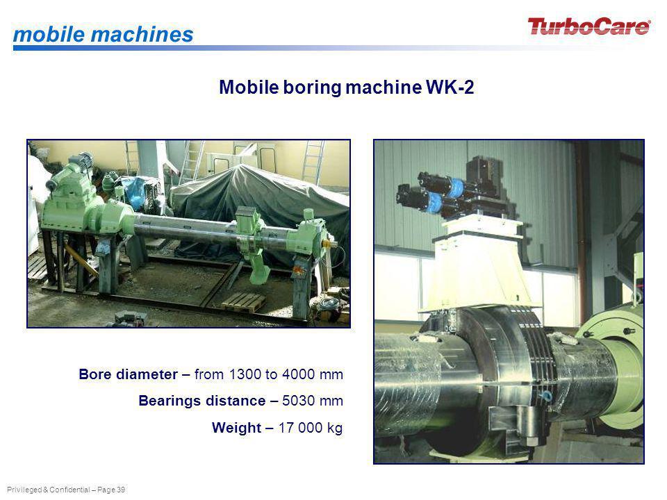 Mobile boring machine WK-2