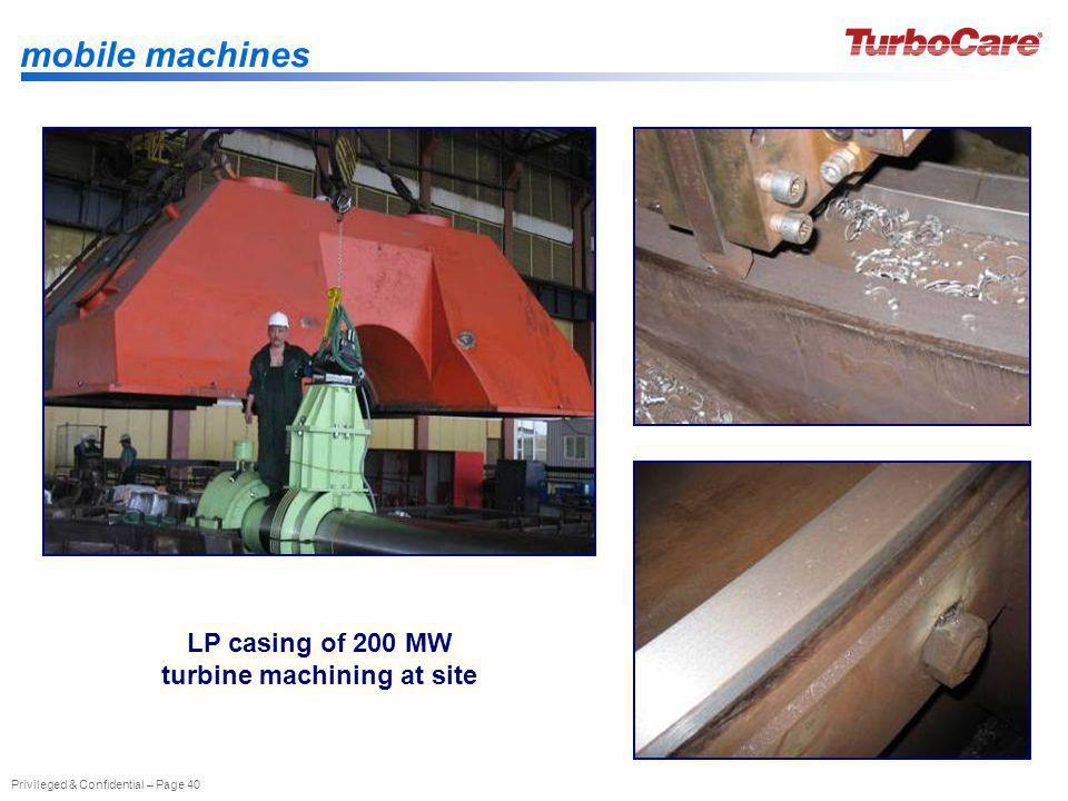 LP casing of 200 MW turbine machining at site