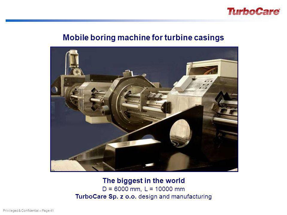 Mobile boring machine for turbine casings