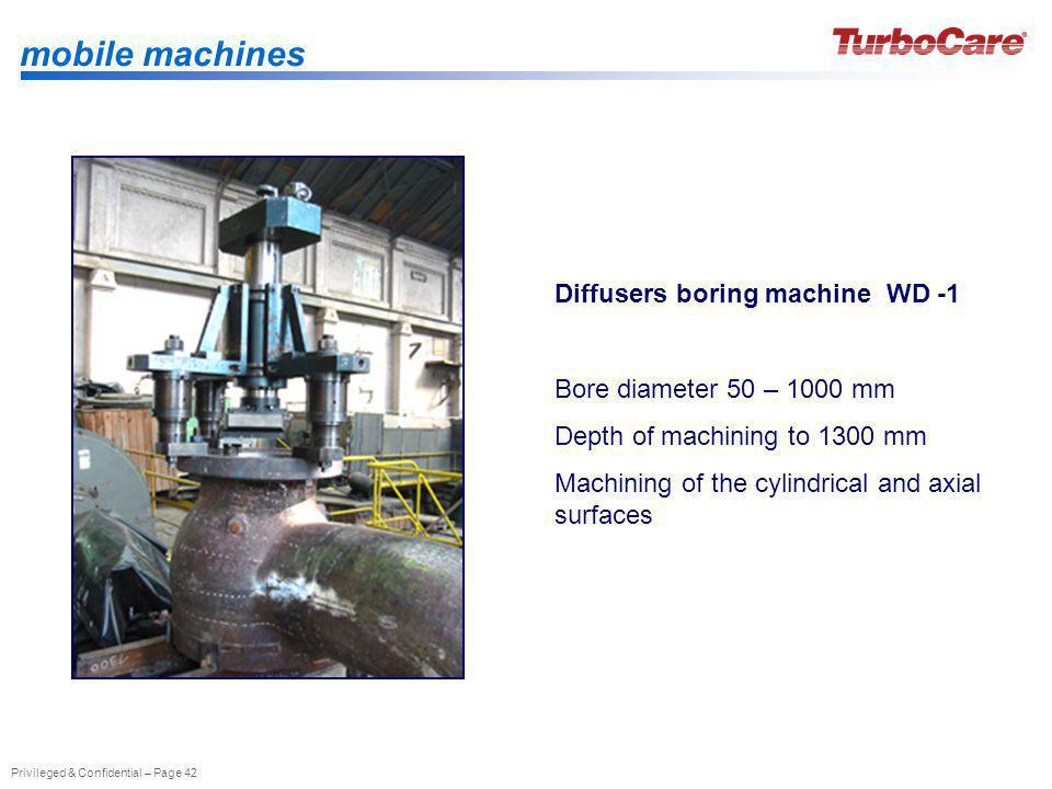 mobile machines Diffusers boring machine WD -1